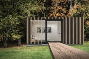 modulaire zorgunit in de tuin